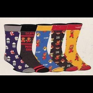 Super Mario Christmas Stocking.Super Mario Bros Limited Edition Crew Socks Nwt